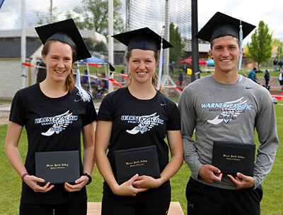 Warner Pacific Knights graduate at CCC Competition