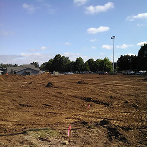 Soccer field at PAA Aug 5 2014 dirt