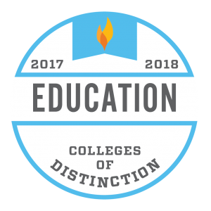 College of Distinction Badge for Education 2018