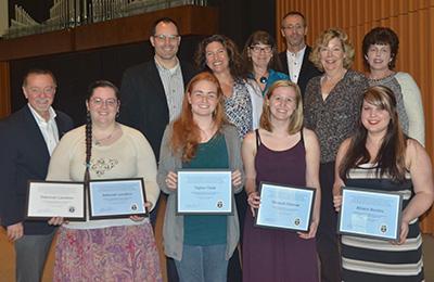 Humanaties awards at WPC Honor Chapel