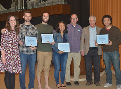 Music awards from Honors Chapel