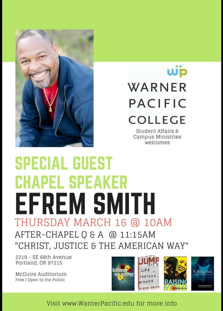 Rev Efrem Smith to speak at WPC