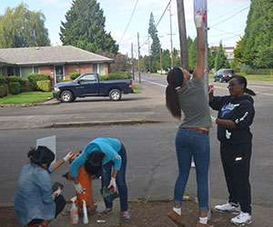 Day of Service: graffiti removal