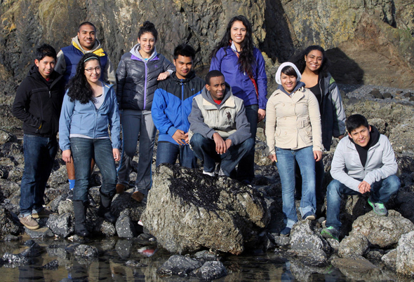 Warner Pacific students at the coast
