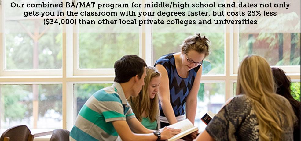 Warner Pacific BA/MAT accelerate degree program web banner