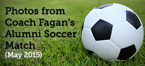 Coach Fagan's alumni soccer match photos web button