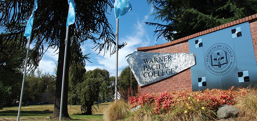 Warner Pacific Monument Sign