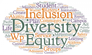 Warner Pacific Diversity definition word cloud