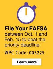 File FAFSA starting October 1