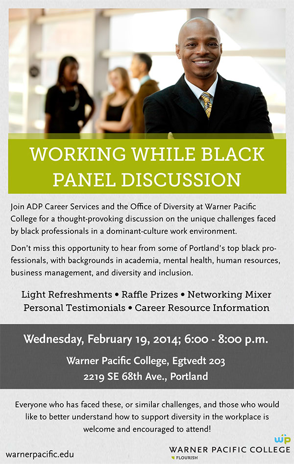 Warner Pacific Panel Discussion Working While Black