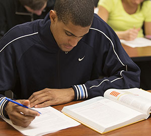Warner Pacific student studying