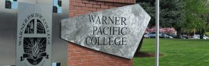 Warner Pacific College monument sign