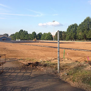 Knights soccer field at PAA drainage and sub layers Aug 15 2014