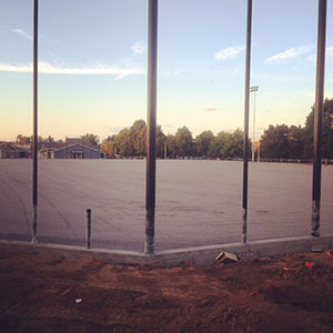 Knights soccer field at PAA prep for turf Sept 9 2014