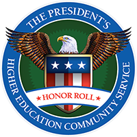 President's Higher Education Community Service Honor Roll logo.