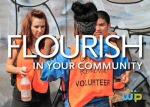 Warner Pacific students volunteering in the community.