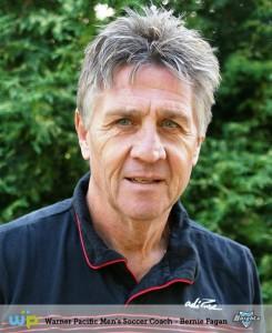 Warner Pacific men's soccer coach Bernie Fagan.