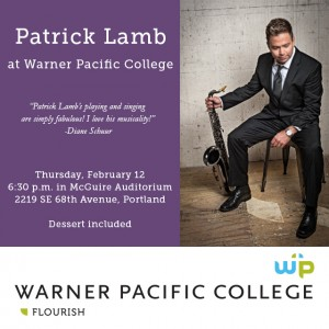 Patrick Lamb to perform wtih Warner Pacific Jazz Band
