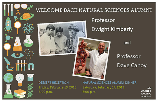 Warner Pacific Homecoming Natural Science events invitation 2015