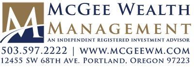 McGee Wealth Management logo - Warner Pacific President's Tea Sponsor