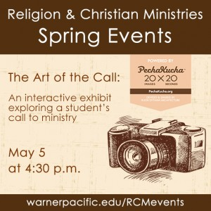 Warner Pacific Religion & Ministry Dpt Art of the Call Event 2015