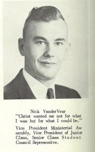 WPC Alum Nick Van der Veur (historical photo from yearbook)