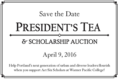 Save the Date for the 2016 President's Tea