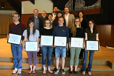 2015 Warner Paciifc Social Science Seniors honored