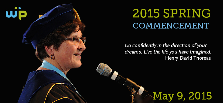Warner Pacific's May 2015 graduation announcement banner