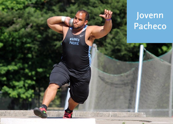 Warner Pacific Track and Field Jovenn Pacheco