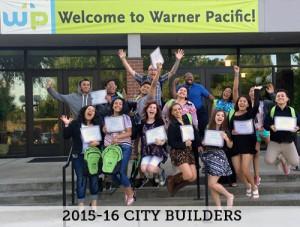 Warner Paicfic's 2015-16 City Builder Scholars