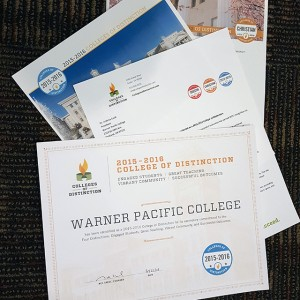 Warner Pacific is a College of Distinction 2015-16