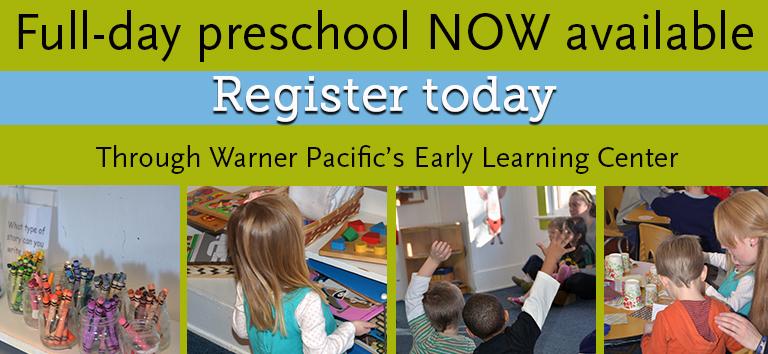 Full Day Preschool at Warner Pacific