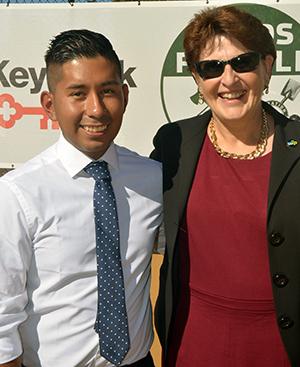 Ricki Ruiz and Dr. Cook at Snake Court Opening 2015