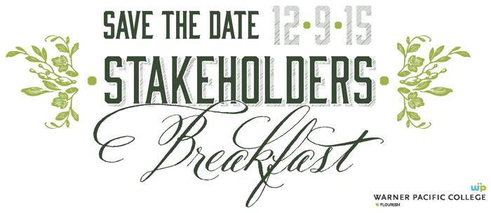 Warner Pacific Annual Stakeholder Breakfast banner