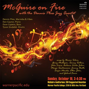 McGuire on Fire Jazz Concert banner
