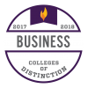 College of Distinction Badge for Business 2018