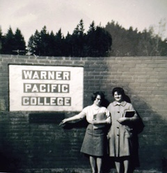 """New Sign"" for the College (1960s) (Historical photo)"