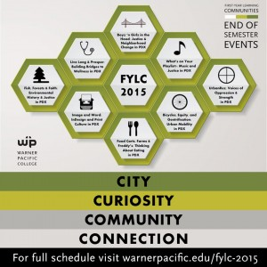 Warner Pacific First-Year Learning Communities Fall 2015 end of semster events (image)