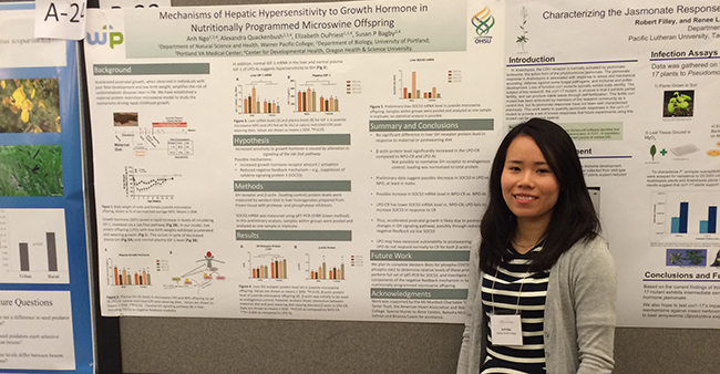 Warner Pacific science student Anh Ngo's Murdock Conference poster 2015