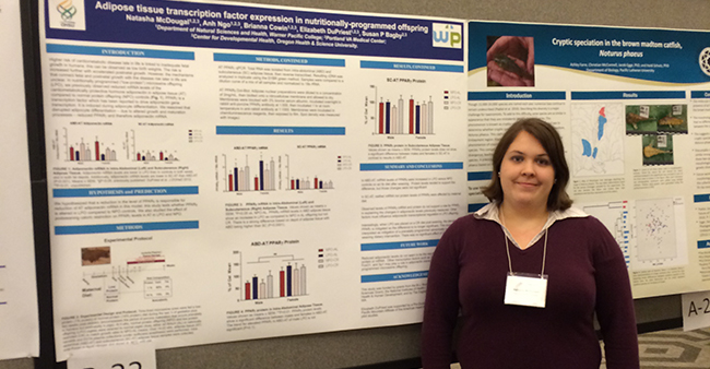 Warner Pacific science student Natash McDougal Murdock conference poster 2015