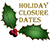 Holiday closure image
