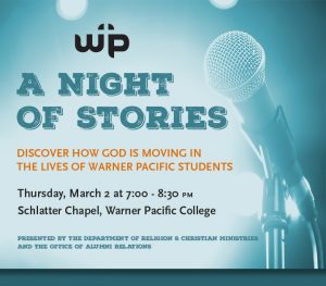Warner Pacific RCM Night of Stories 2017 image