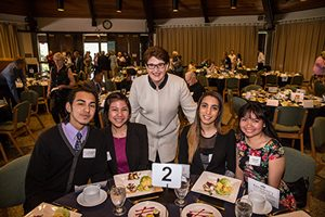 Dr. Cook with Warner Pacific Students at President Auction
