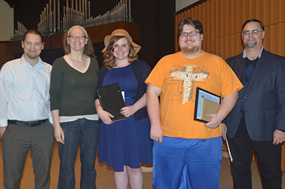 Religion awards from Honors Chapel