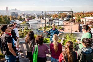 WPC students visit urban rooftop garden