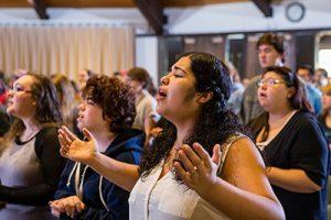 Warner Pacific students at chapel