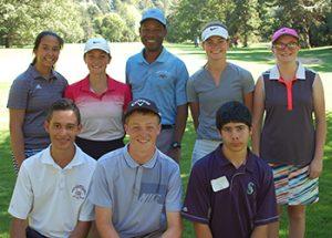Oregon Junior Golfers with Knight golf coach Quincy Heard