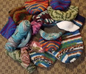 WPC Student Crocheted hats for charity 2016 (K Hilman)