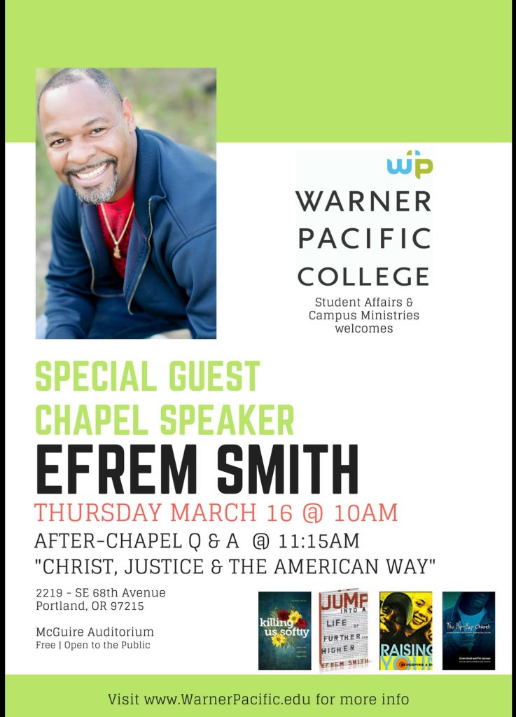 Rev Efrem Smith to speak at WPC